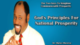 God's Principles For National Prosperity